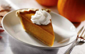 This is what pumpkin pie looks like. Weird stuff.