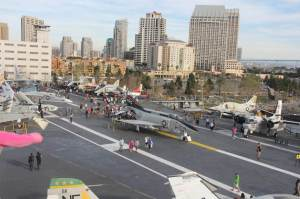 The flight deck was more than four acres