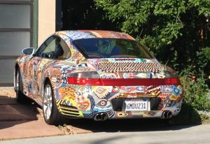 Yes, that's a Porsche 911. A weird choice of car to paint.