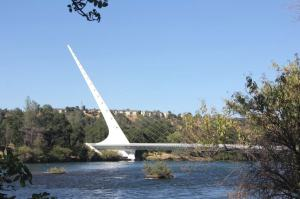After seeing the caverns, we went to look at the Sundial Bridge in Redding. It's a working sundial during the day and it's illuminated beautifully at night.
