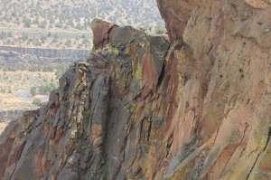 Weirdly coloured rock