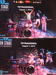 The poster for Tetrahedral's sold-out concert