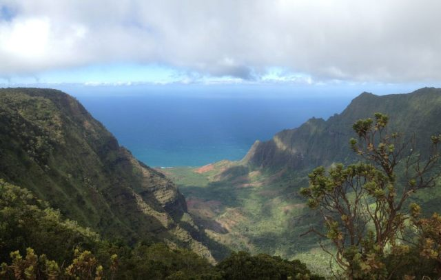 The Na Pali coastline from above