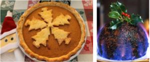 Pumpkin pie vs Christmas pudding.  Pumpkin pie doesn't scream Christmas to a Brit.