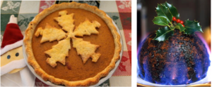 Pumpkin pie vs Christmas pudding.  Pumpkin pie doesn't scream Christmas to a Brit.