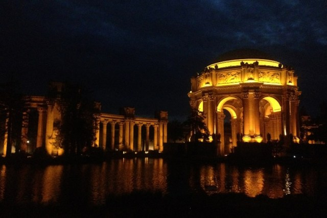 The beautiful Palace of Fine Arts in San Francisco, where the show was staged.