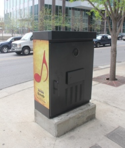 Nashville is so cool that there are free jukeboxes on the streets, so you can listen to music all the time.