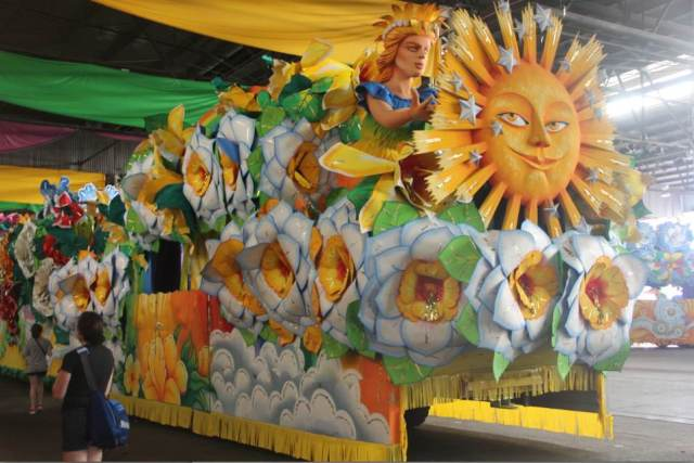 "Just one of Orpheus's  floats (Orpheus is a krewe).  Orpheus's signature is flowers.  The year's theme was ""The Magic of Every Day""."