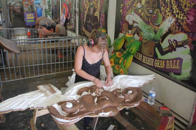 ... then covered with papier mache to provide a paintable surface...