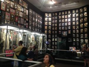 Elvis's racquetball court, now a showcase for some of his awards and costumes.
