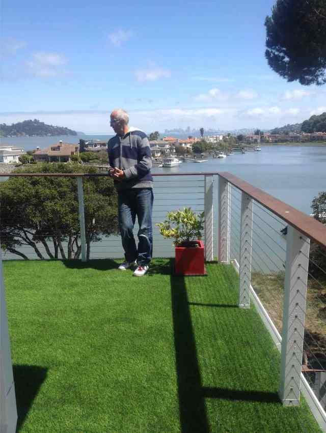 An Englishman surveying his lawn