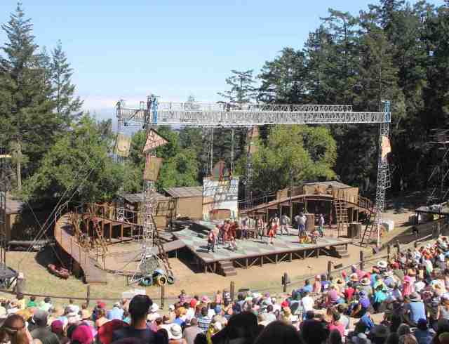The open-air theater, overlooking Mill Valley, usually.  Today it was a bank of fog.