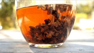 Cascara, the tea made from dried coffee cherries