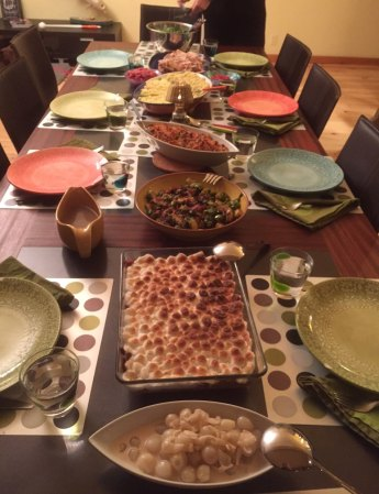 The Thanksgiving banquet