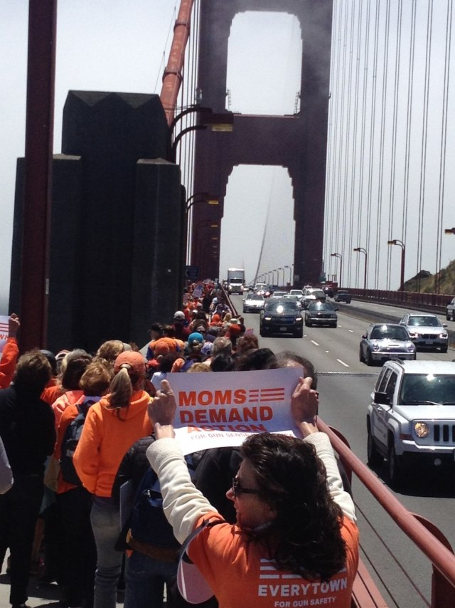 Marching across the Golden Gate Bridge on National Gun Violence Awareness Day